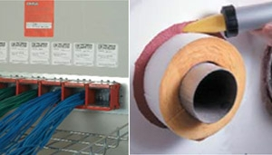 Fire Stop Sealants, Wraps, Jackets and Mortars.